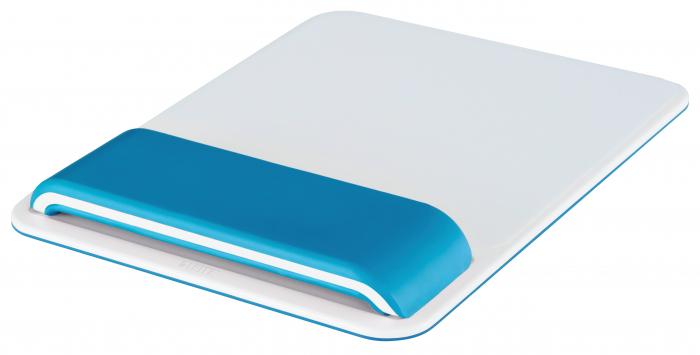 Mouse pad Leitz Ergo WOW cu suport pentru incheietura mainii, albastru 0