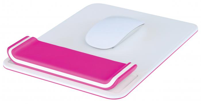 Mousepad Leitz Ergo WOW cu suport incheietura, roz [1]