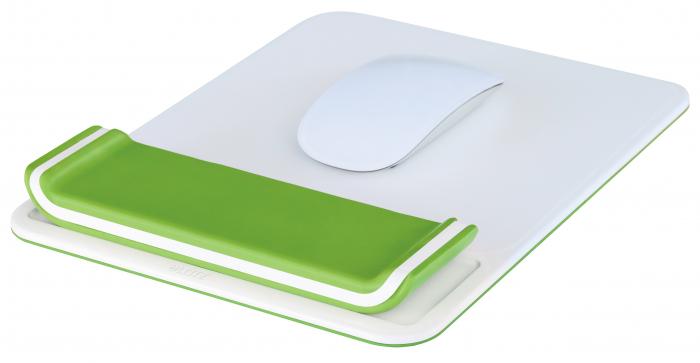Mouse pad Leitz Ergo WOW cu suport pentru incheietura mainii, verde 1