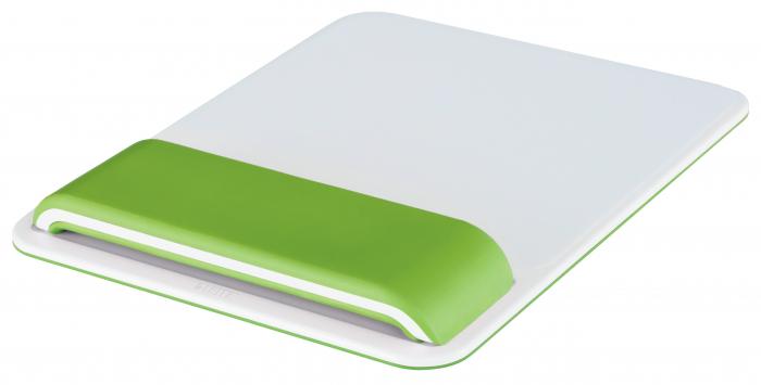 Mouse pad Leitz Ergo WOW cu suport pentru incheietura mainii, verde 0