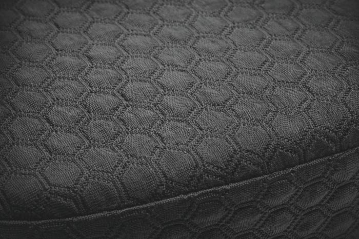 Pernuta scaun Kensington, spuma cu memorie, gel pentru racire, negru 4