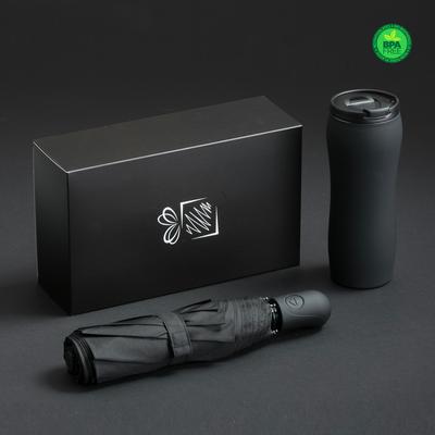 Set: Sticla De Apa Si Cana Termica, negru [0]