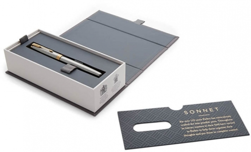 Stilou penita M Sonnet Royal Stainless Steel GT Parker 0