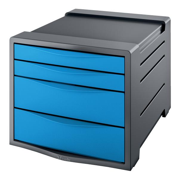 Suport cu 4 sertare Esselte Europost VIVIDA, albastru 0