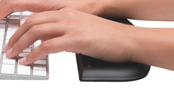 Suport incheietura pt tastatura Kensington ErgoSoft, slim, negru [1]