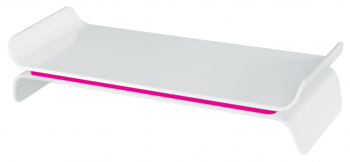 Suport ergonomic Leitz Ergo WOW, pentru monitor, ajustabil, roz 0