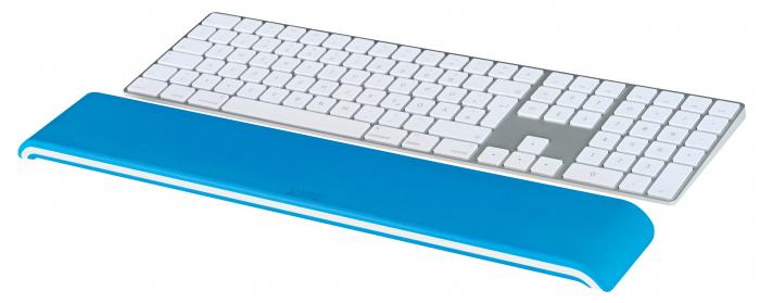 Suport ergonomic incheietura mainii Leitz Ergo WOW pentru tastatura, albastru 1