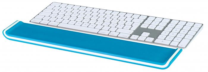 Suport ergonomic incheietura mainii Leitz Ergo WOW pentru tastatura, albastru 2