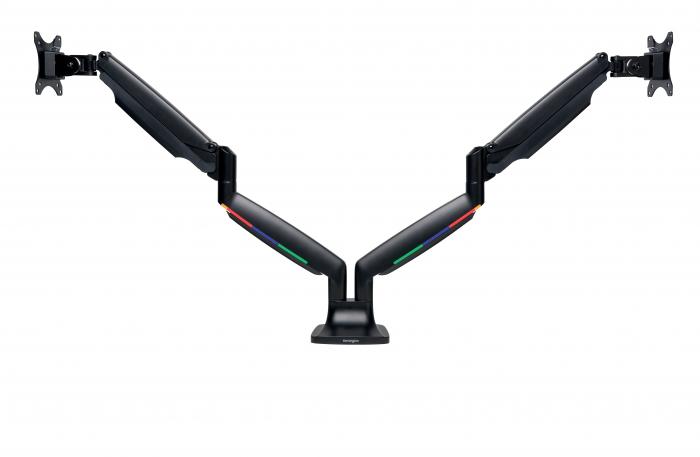 Suport pentru monitor Kensington One-Touch, cu doua brate adjustabile, negru 0