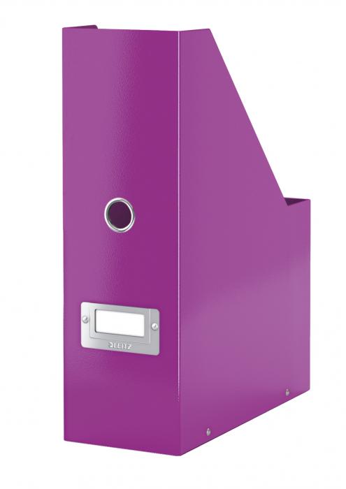 Suport vertical Leitz WOW Click & Store, pentru documente, mov 2