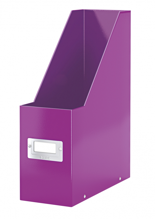 Suport vertical Leitz WOW Click & Store, pentru documente, mov 0