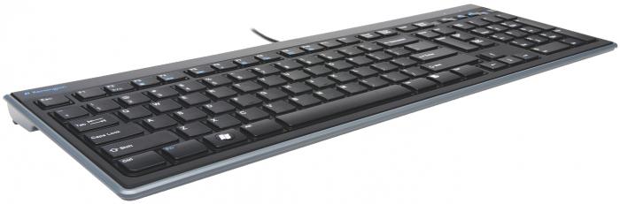 Tastatura Kensington AdvanceFit, cu fir, taste slim, negru 0