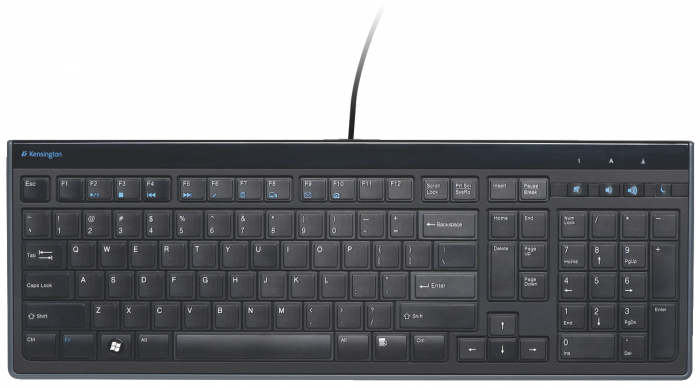 Tastatura Kensington AdvanceFit, cu fir, taste slim, negru 1