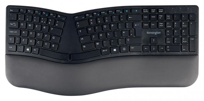 Tastatura Kensington ProFit Ergo, suport incheietura mainii, wireless, negru 0
