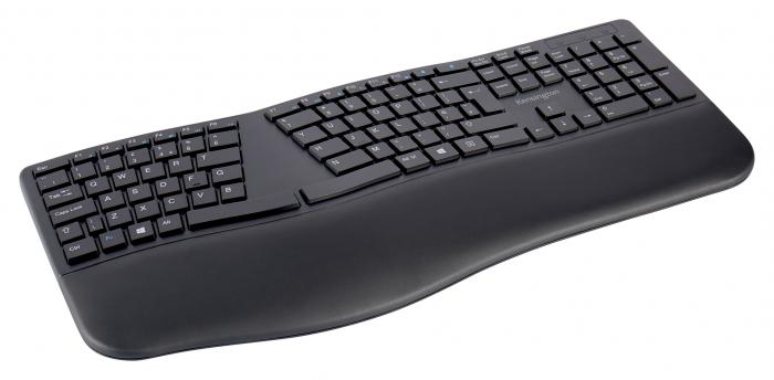 Tastatura Kensington ProFit Ergo, suport incheietura mainii, wireless, negru 2