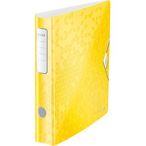 Biblioraft Leitz Active WOW 180°, A4, 50 mm, polyfoam, galben0