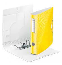 Biblioraft Leitz Active WOW 180°, A4, 50 mm, polyfoam, galben1