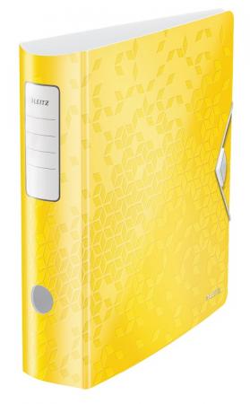Biblioraft Leitz Active WOW 180°, A4, 75 mm, polyfoam, galben0