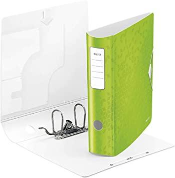 Biblioraft Leitz Active WOW 180°, A4, 75 mm, polyfoam, verde1
