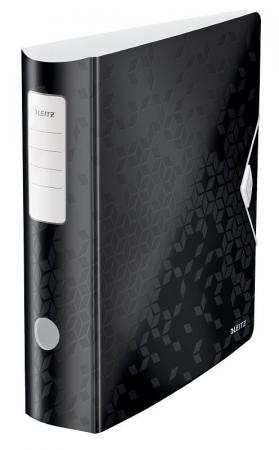Biblioraft Leitz Active WOW 180°, A4, 75 mm, polyfoam, negru0