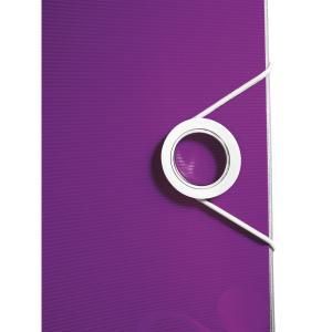 Biblioraft Leitz Active WOW 180°, A4, 75 mm, polyfoam, mov metalizat0