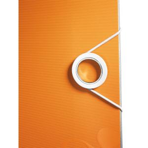 Biblioraft Leitz Active WOW 180°, A4, 75 mm, polyfoam, portocaliu metalizat1