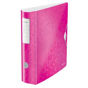 Biblioraft Leitz Active WOW 180°, A4, 75 mm, polyfoam, roz metalizat0