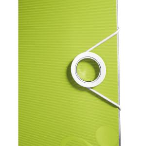 Biblioraft Leitz Active WOW 180°, A4, 75 mm, polyfoam, verde metalizat0