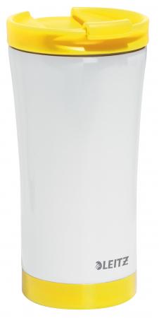 Cana termica Leitz WOW, otel inoxidabil, 380 ml, galben0
