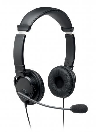 Casti on-ear Kensington cu microfon, cablu USB 1.8 m, negru [0]