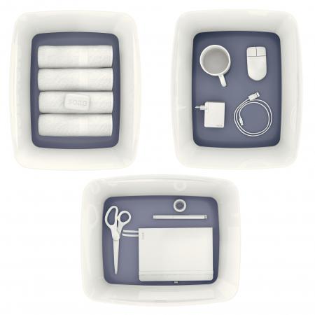 Cutie depozitare Leitz MyBox, cu capac, mare, culori duale, alb-gri2