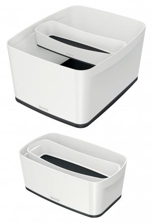 Cutie depozitare Leitz MyBox Organiser, lunga, culori duale, alb-negru2