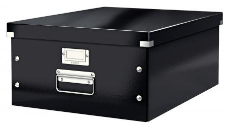 Cutie depozitare Leitz WOW Click & Store, carton laminat, mare, negru1