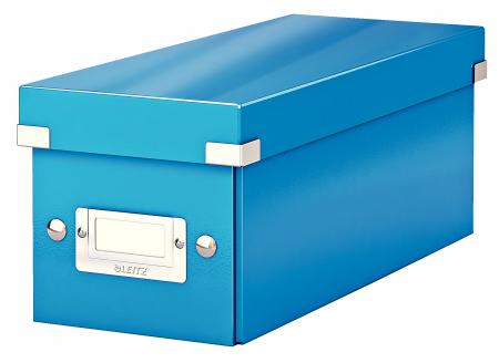 Cutie depozitare Leitz WOW Click & Store, carton laminat, albastru0