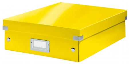 Cutie depozitare Leitz WOW Click & Store Organizer, carton laminat, medie, galben0