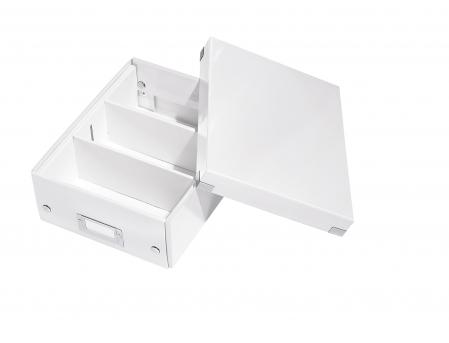 Cutie depozitare Leitz WOW Click & Store Organizer, carton laminat, mica, alb1