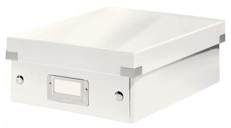 Cutie depozitare Leitz WOW Click & Store Organizer, carton laminat, mica, alb0