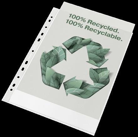 Folie de protectie Esselte Recycled, PP, A4, 70 mic, 100 buc/cutie, standard [0]