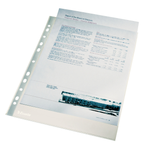 Folie protectie Esselte cristal 40mic 100buc [1]