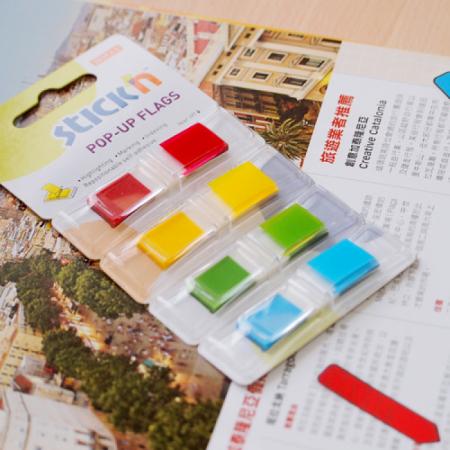Index plastic Hopax 12x45 mm 5x30 file cu dispenser culori neon1