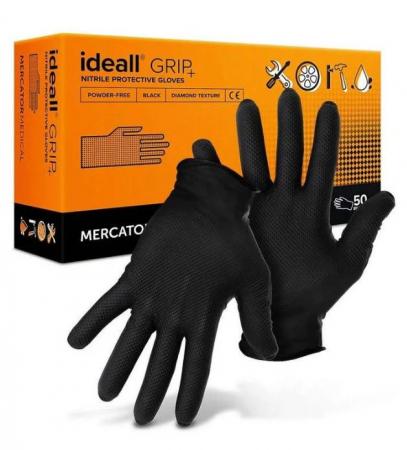 Manusi Nitril Ideall Grip XL, 50 buc.0