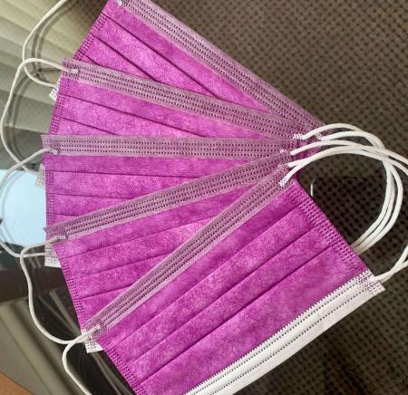 Masca chirurgicala 3 straturi lila 50 buc./cutie0