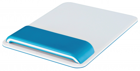 Mouse pad Leitz Ergo WOW cu suport pentru incheietura mainii, albastru0