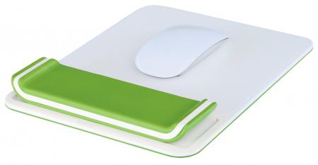 Mouse pad Leitz Ergo WOW cu suport pentru incheietura mainii, verde1