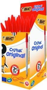 Pix Bic Cristal Medium, rosu1
