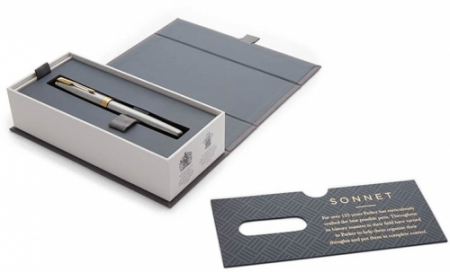 Stilou penita M Sonnet Royal Stainless Steel GT Parker0