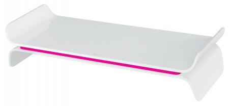 Suport ergonomic Leitz Ergo WOW, pentru monitor, ajustabil, roz0