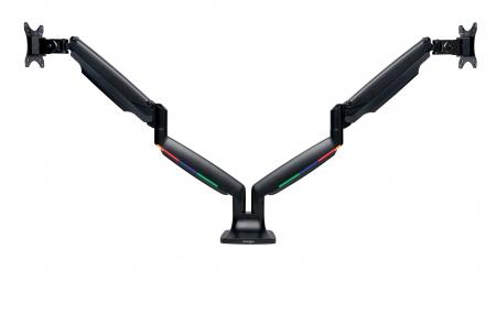 Suport pentru monitor Kensington One-Touch, cu doua brate adjustabile, negru0