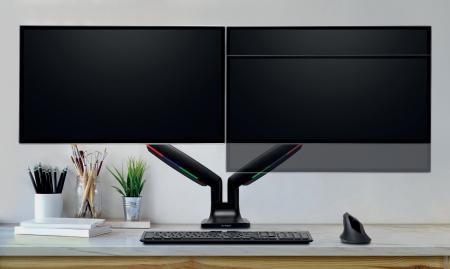Suport pentru monitor Kensington One-Touch, cu doua brate adjustabile, negru1