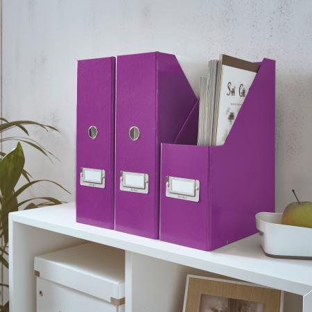 Suport vertical Leitz WOW Click & Store, pentru documente, mov1